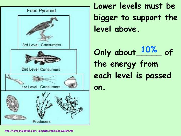 Lower levels must be