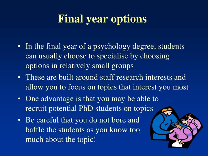 Final year options