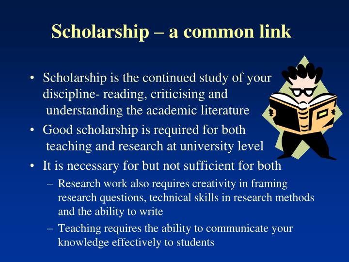 Scholarship – a common link