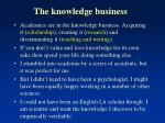 the knowledge business