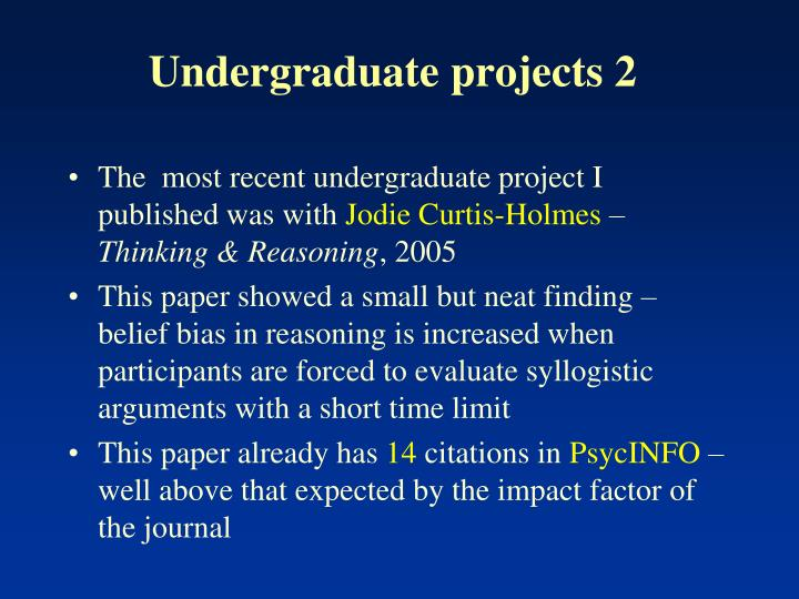 Undergraduate projects 2