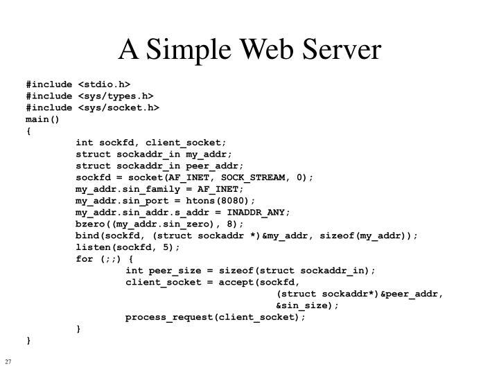 A Simple Web Server