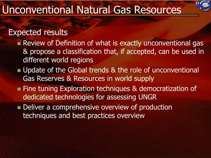 Unconventional Natural Gas Resources