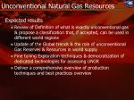unconventional natural gas resources1