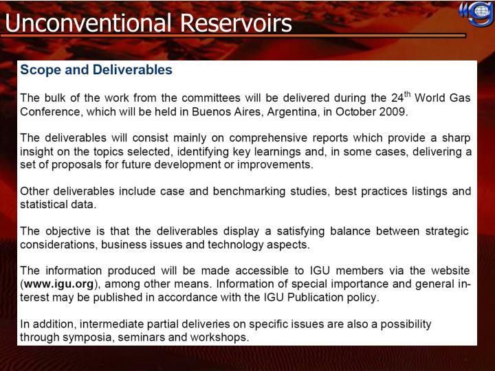 Unconventional Reservoirs