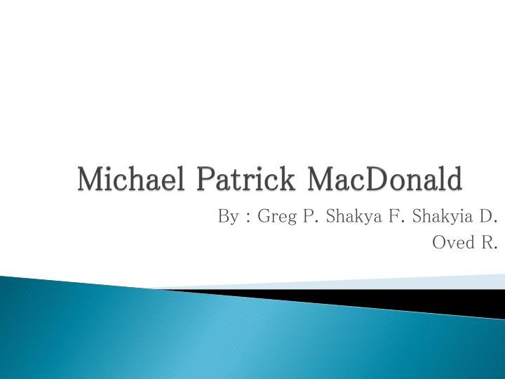 Michael Patrick MacDonald