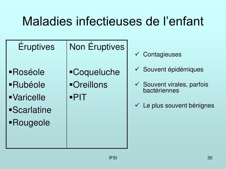 Maladies infectieuses de l'enfant
