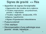 signes de gravit r a