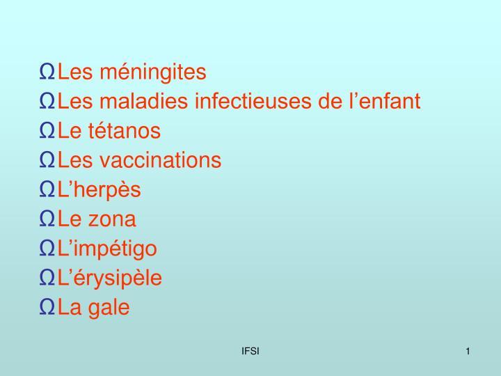 Les méningites