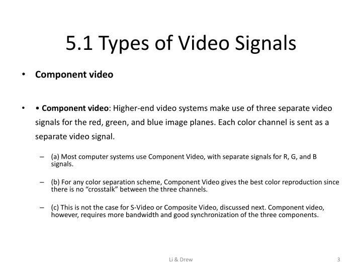 5 1 types of video signals