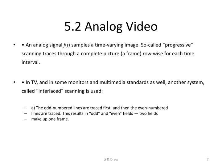 5.2 Analog Video