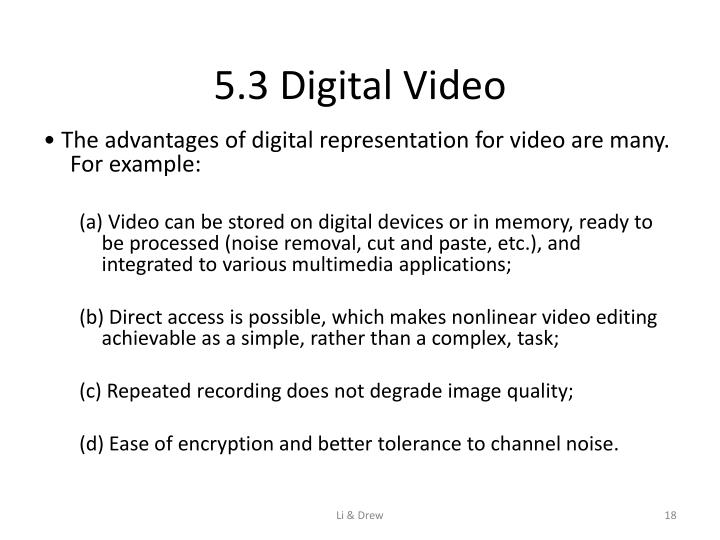 5.3 Digital Video