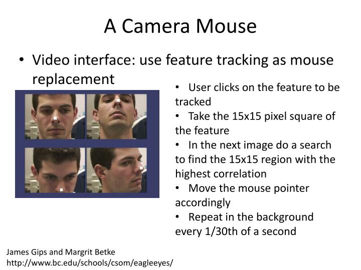 A Camera Mouse