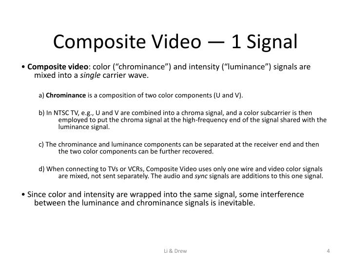 Composite Video — 1 Signal