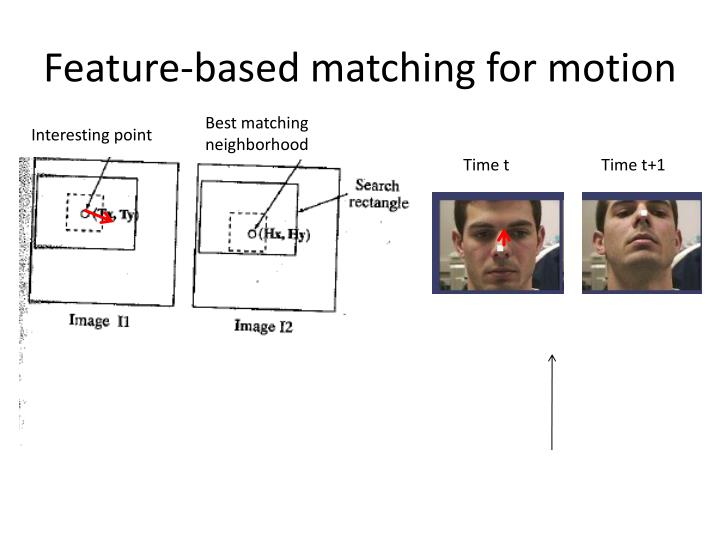 Feature-based matching for motion