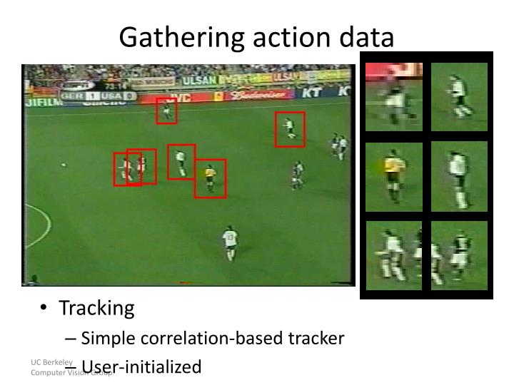 Gathering action data