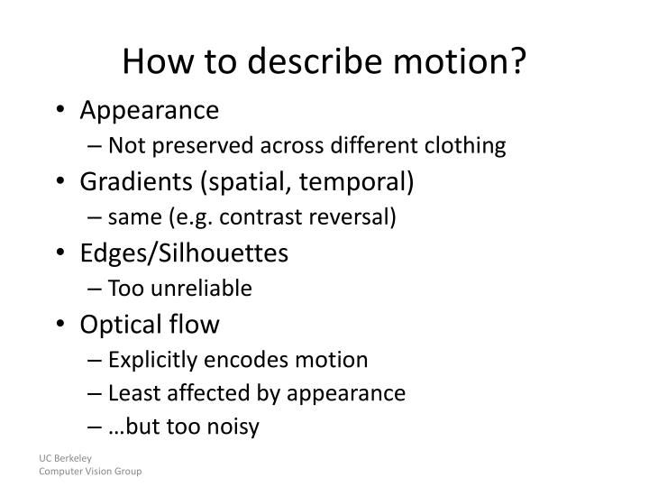 How to describe motion?