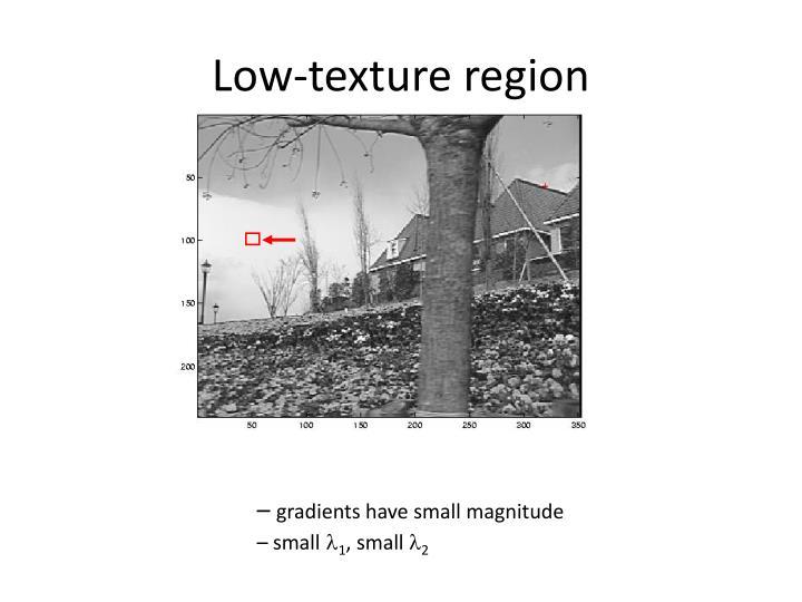 Low-texture region