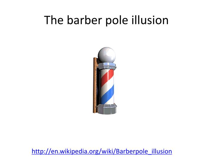 The barber pole illusion