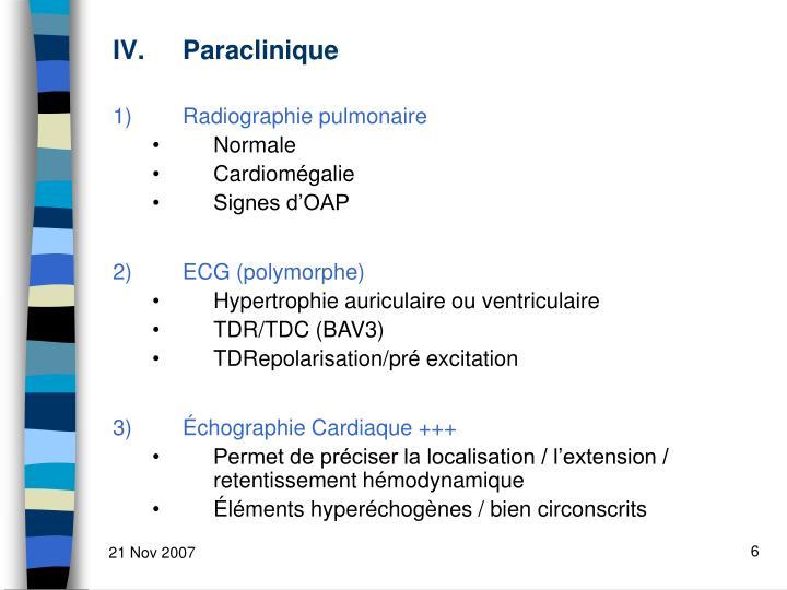 Paraclinique