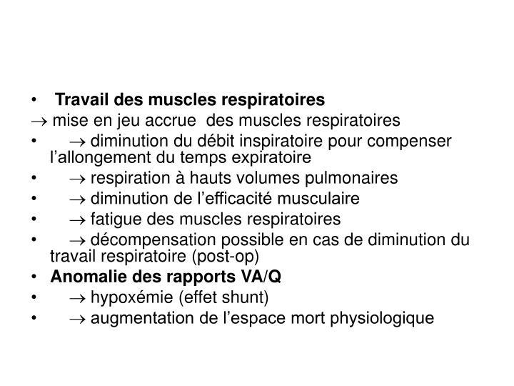 Travail des muscles respiratoires