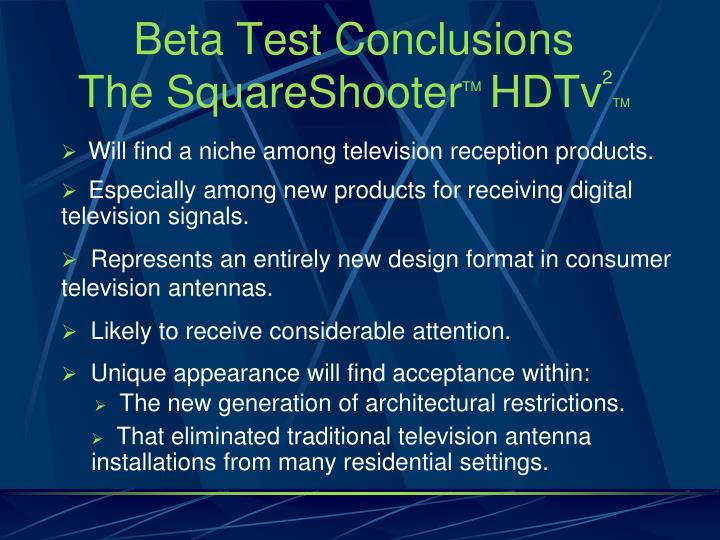Beta Test Conclusions