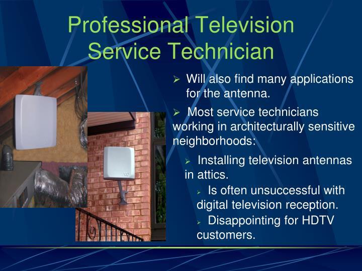 Professional Television Service Technician
