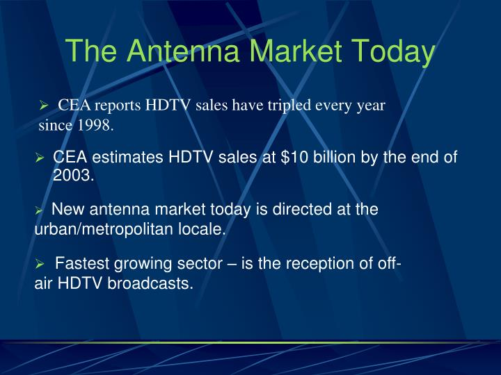 The antenna market today