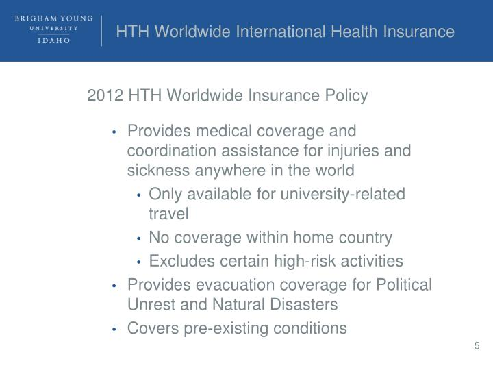 HTH Worldwide International Health Insurance