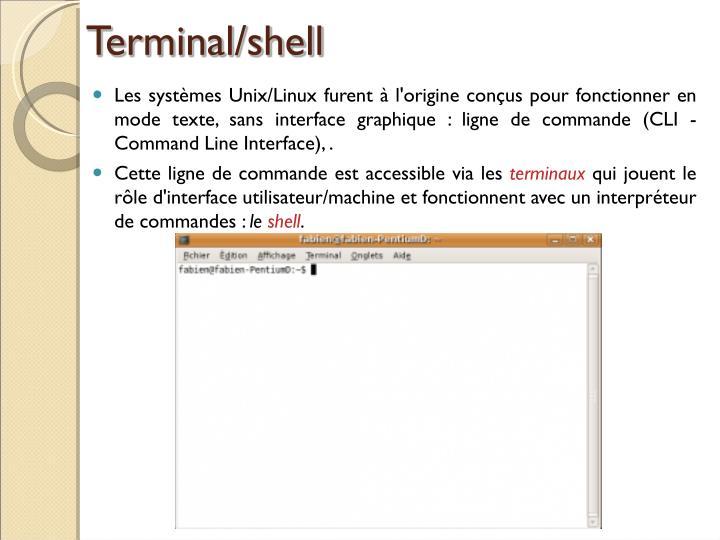 Terminal/shell