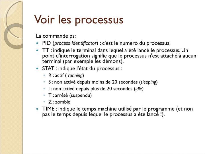 Voir les processus