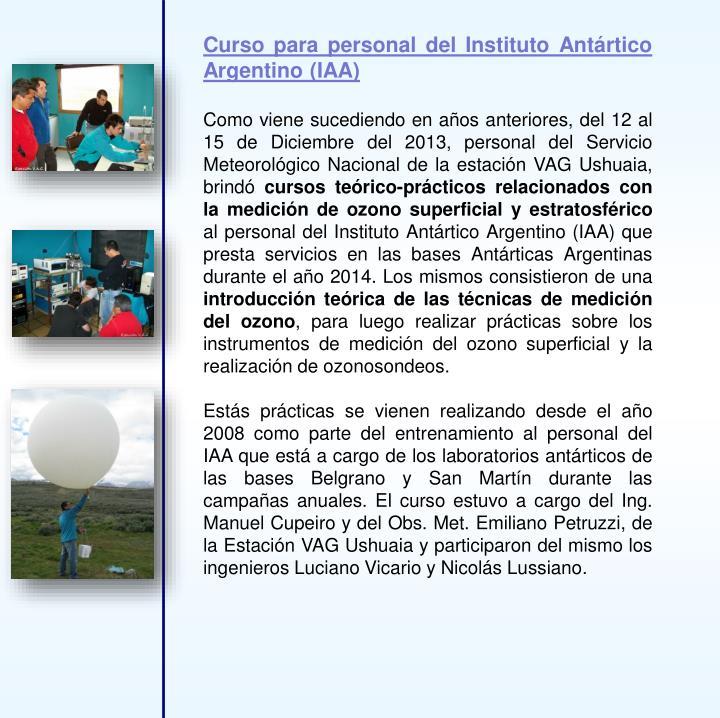 Curso para personal del Instituto Antártico Argentino (IAA)