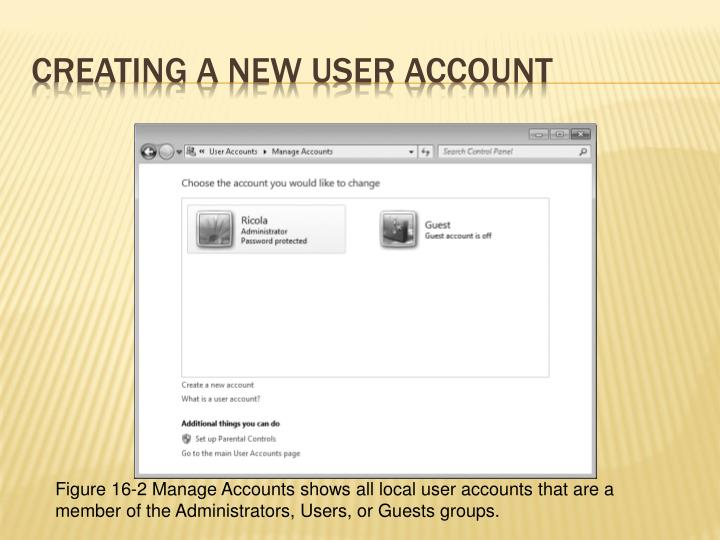 Creating a New User Account