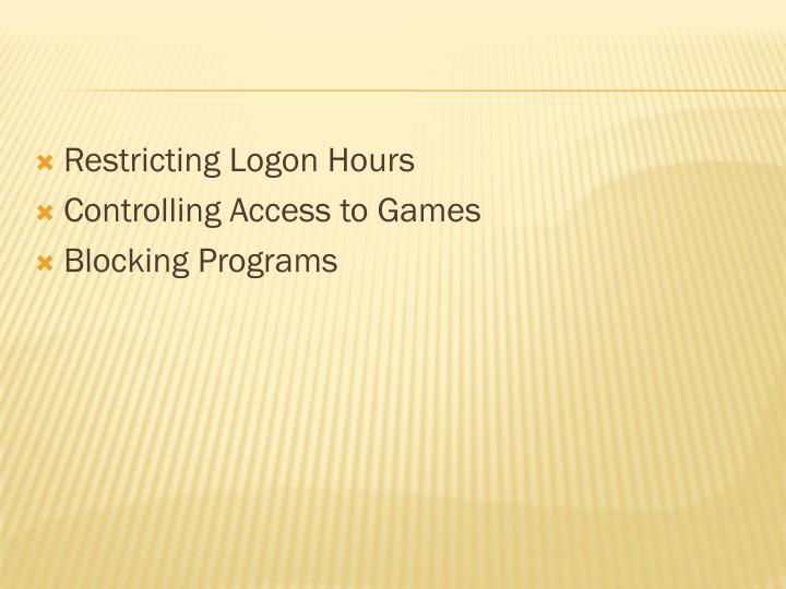 Restricting Logon Hours