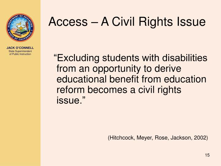 Access – A Civil Rights Issue