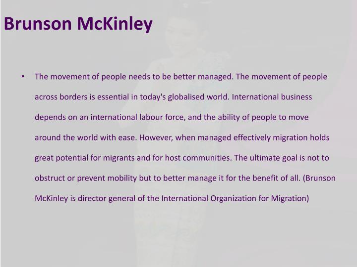 Brunson McKinley