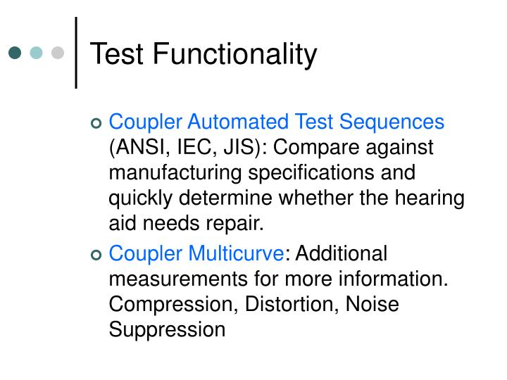 Test Functionality