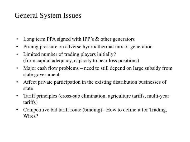 General System Issues