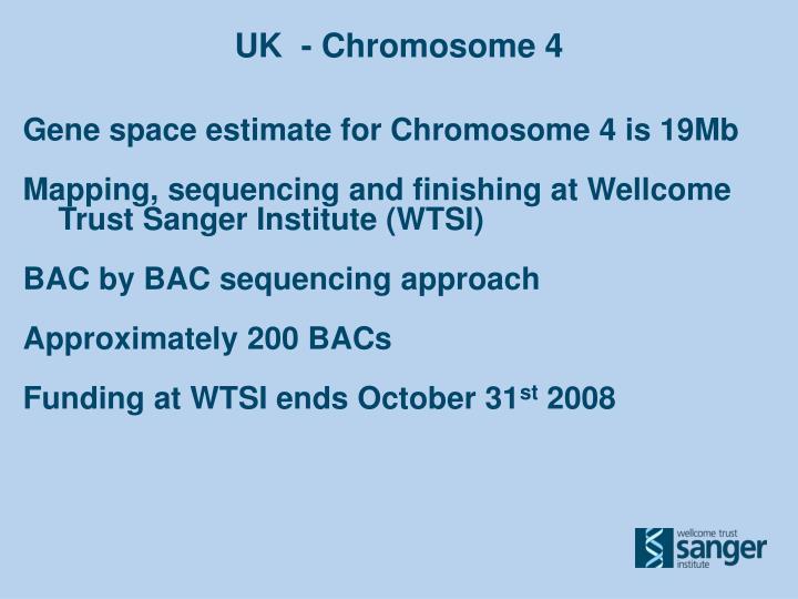 UK  - Chromosome 4