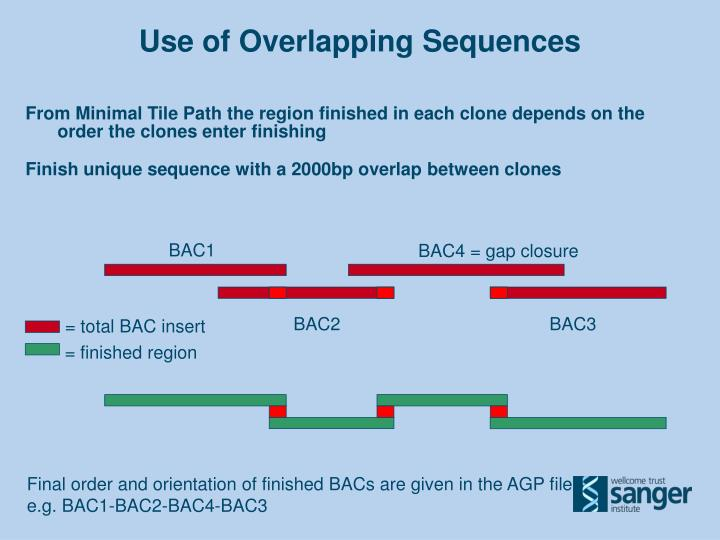 Use of Overlapping Sequences