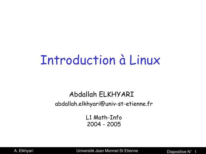 Introduction à Linux