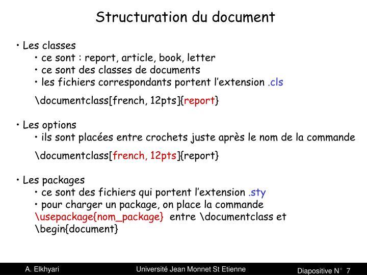 Structuration du document