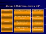 physics math connections in qip