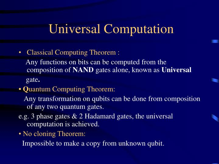 Universal Computation