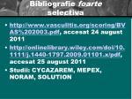 bibliografie foarte selectiva