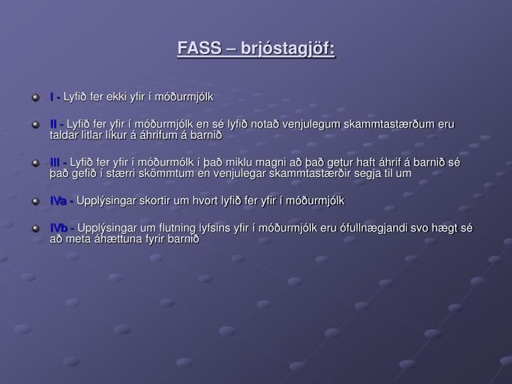 FASS – brjóstagjöf: