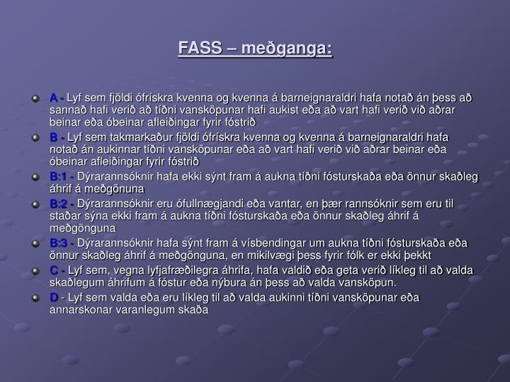 FASS – meðganga:
