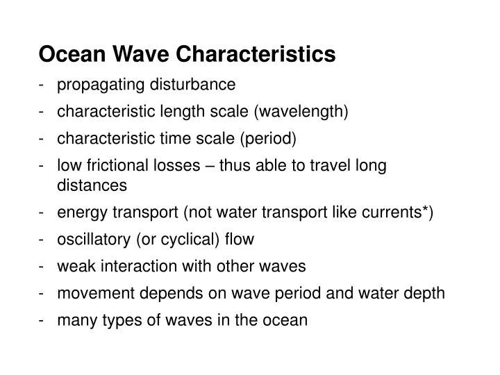 Ocean Wave Characteristics