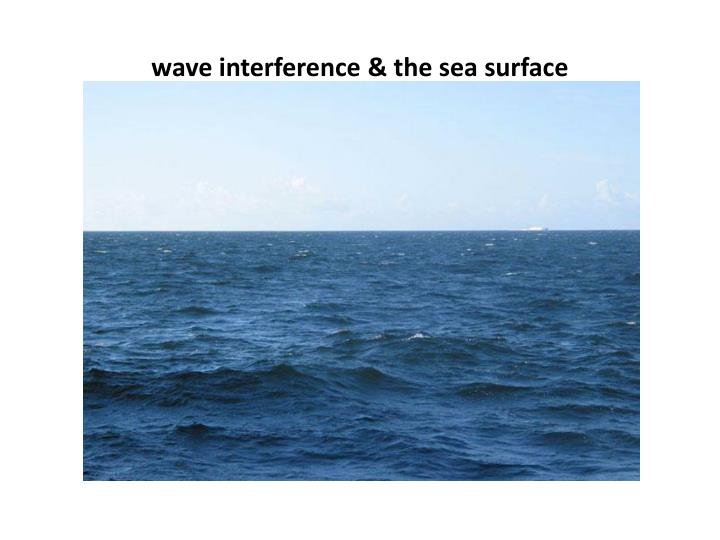 wave interference & the sea surface