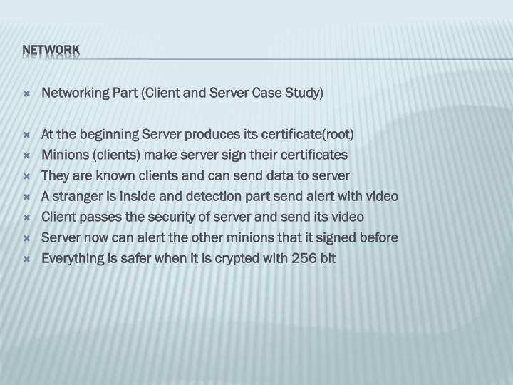 Networking Part (Client and Server Case Study)